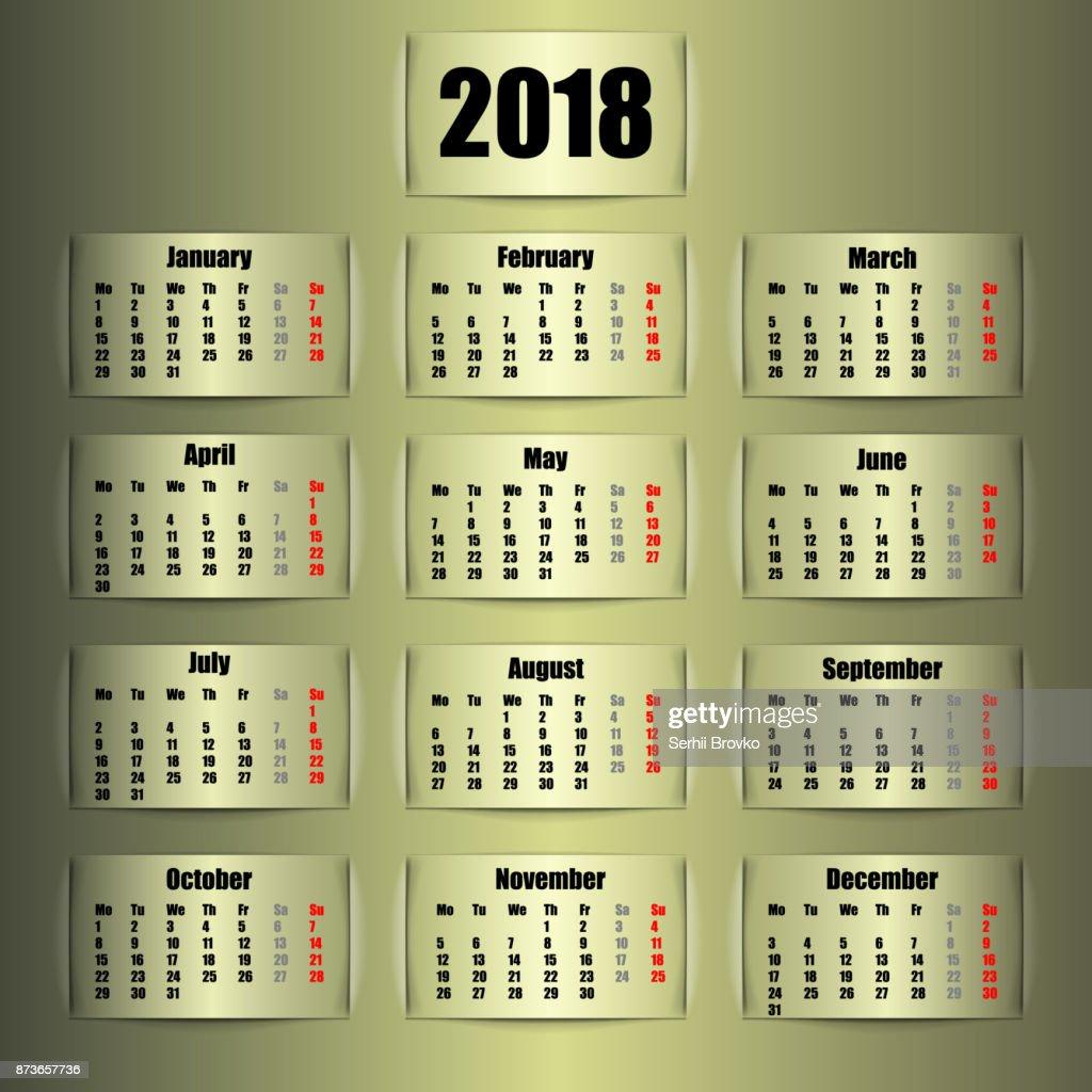 calendar 2018 banner design vector illustration vector art