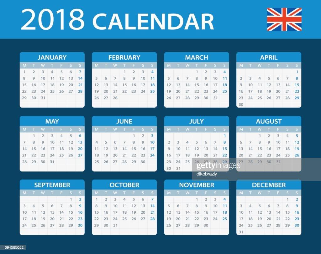 Calendar 2018 - English Version
