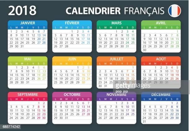 Calendar 2018 French Color