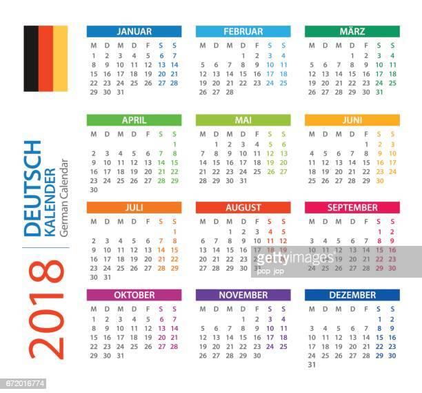 Kalender 2018 Square - deutsche Version