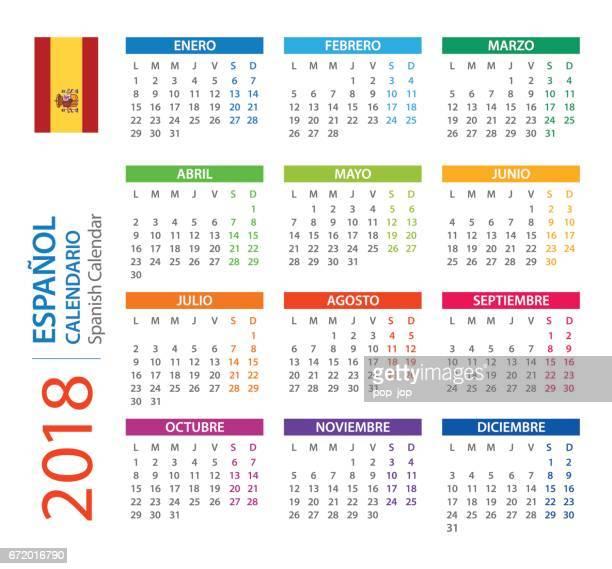 Calendar 2018 Square - Spanish Version