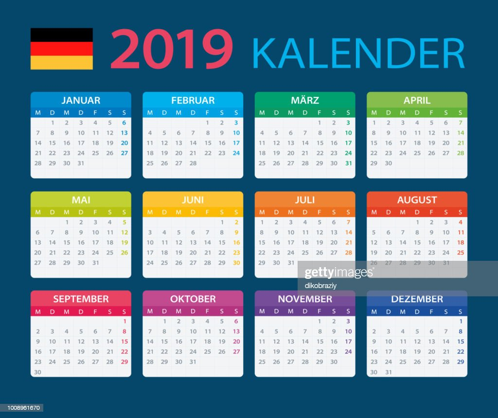Calendar 2019 - German Version