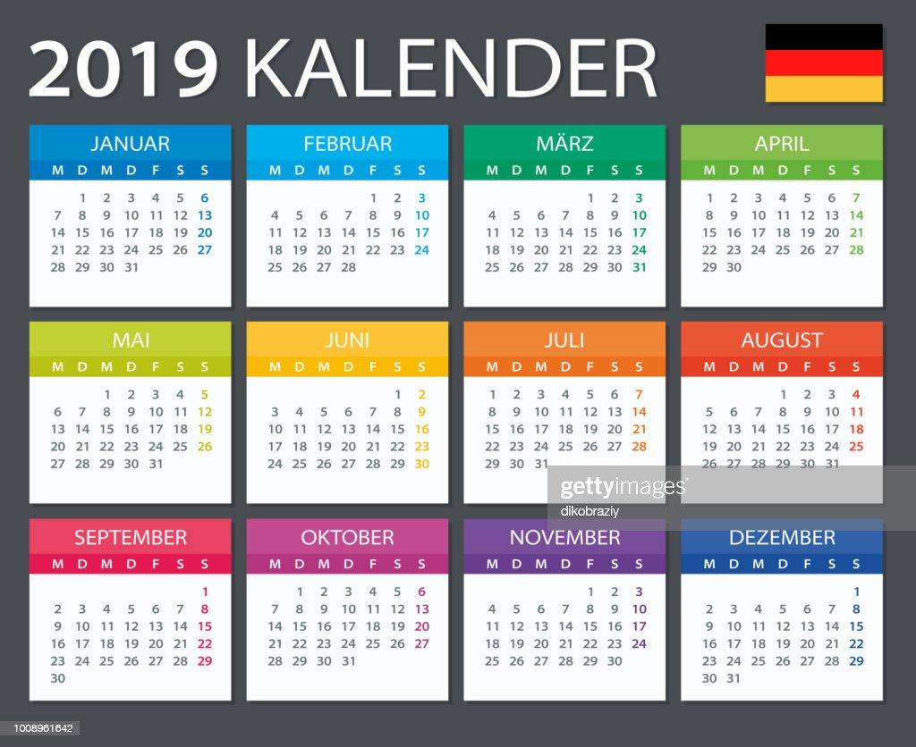 Calendar 2019 - Gerrman version