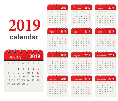 Calendar 2019 - gettyimageskorea