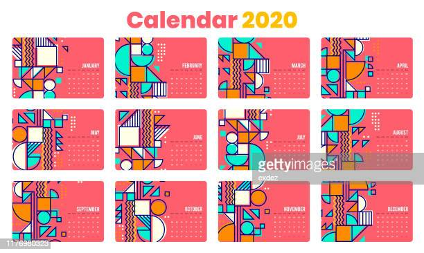 calendar 2020 including us holidays - 2019 2020 calendar stock illustrations