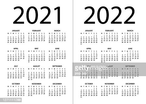 Options Expiration Calendar 2022.Calendar 2021 2022 Vector Illustration Week Starts On Monday High Res Vector Graphic Getty Images