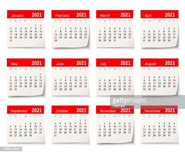 calendar 2021 vector design template week start on sunday, isolated on a white background. calendar paper leaf. - may stock illustrations