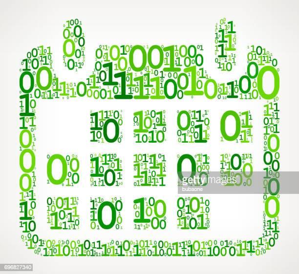 calendar  binary code zero one vector illustration - 0 1 months stock illustrations