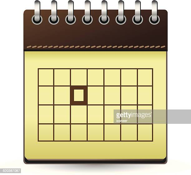 Calendar brown with one day marked