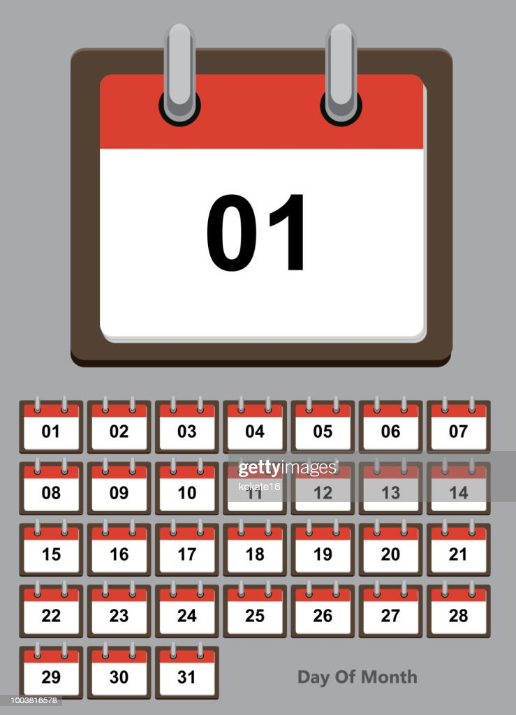 Calendar daily on white paper note. Vector illustration EP.10