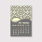 Calendar february 2017 start sunday