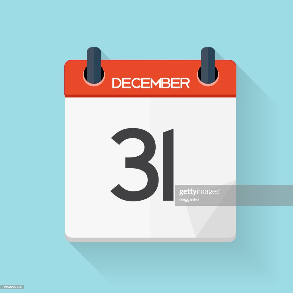 Calendar Flat Daily Icon. Vector Illustration Emblem. Element of