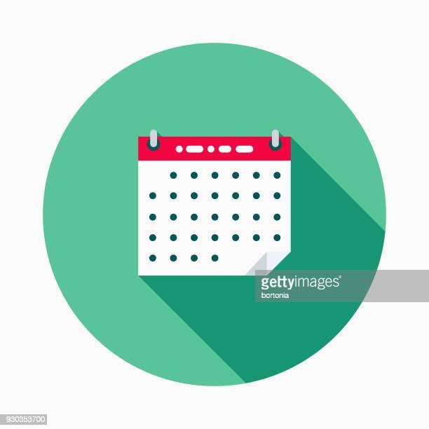 Kalender Flat Design School levert pictogram met kant schaduw