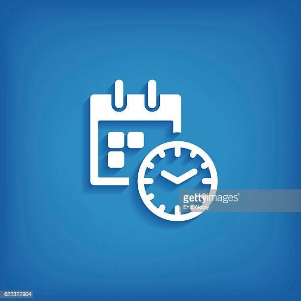 calendar flat icon - organização stock illustrations