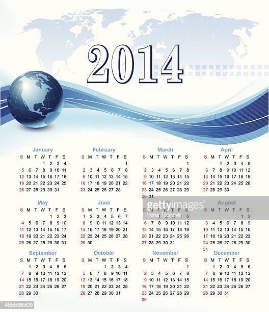 Calendário para 2014-Vector