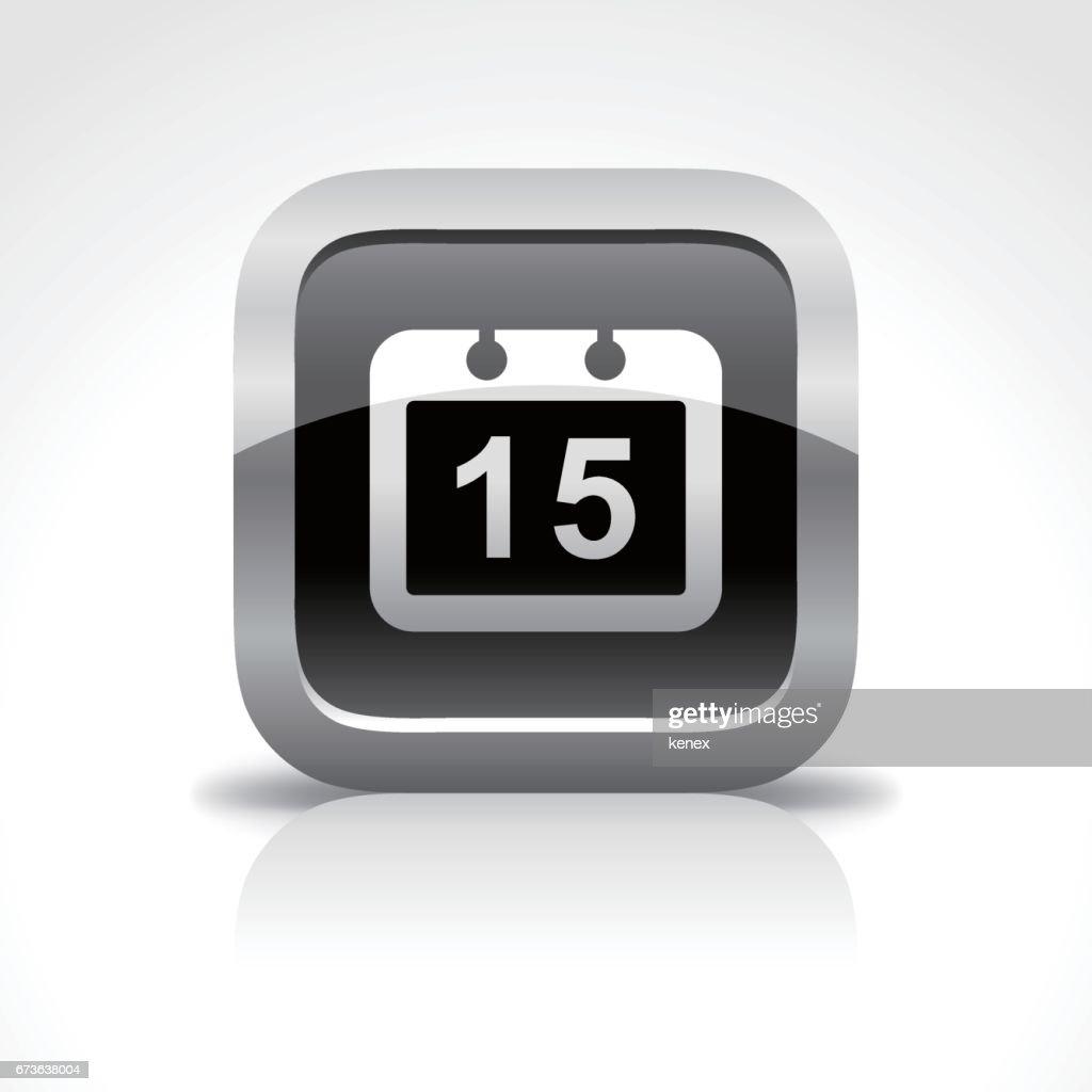Calendar Glossy Button Icon