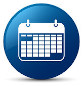 Calendar icon blue round button