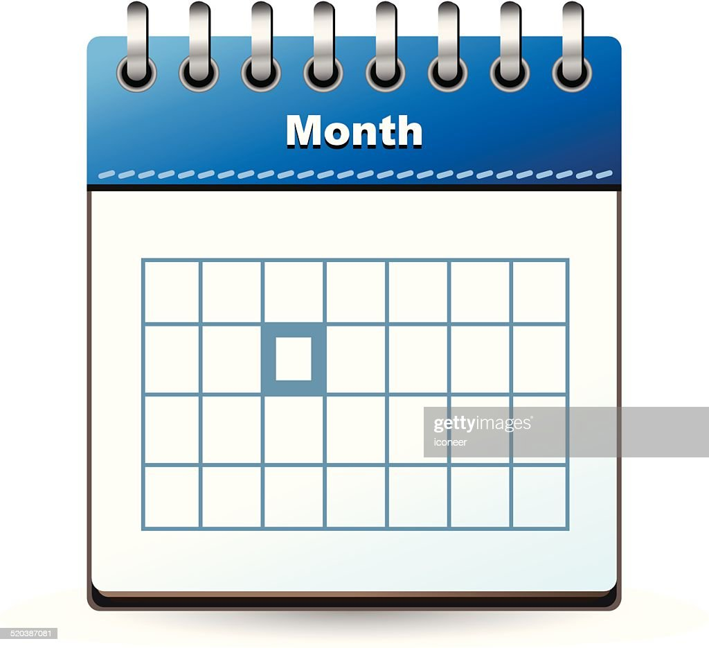 Calendar Day Vector Art : Calendar icon blue with marked day vector art getty images