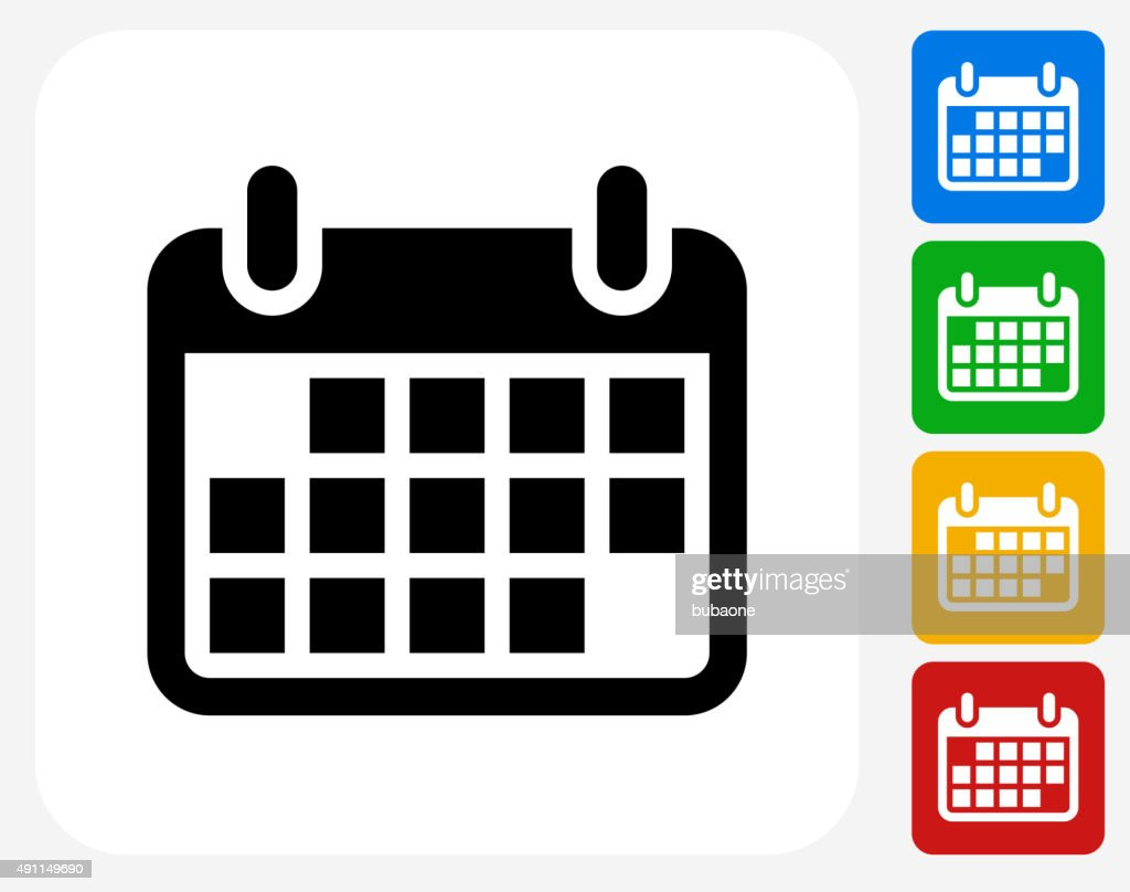 Calendar Graphic Icon : Calendar icon flat graphic design vector art getty images