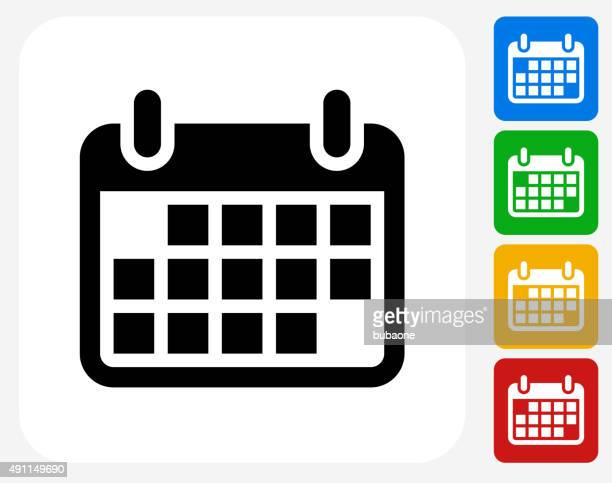 Calendar Icon Flat Graphic Design