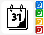 Calendar Icon Flat Graphic Design