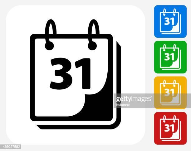 ilustraciones, imágenes clip art, dibujos animados e iconos de stock de icono de calendario planos de diseño gráfico - lanzar actividad física