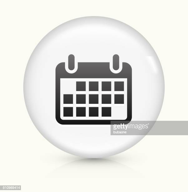 Calendar icon on white round vector button
