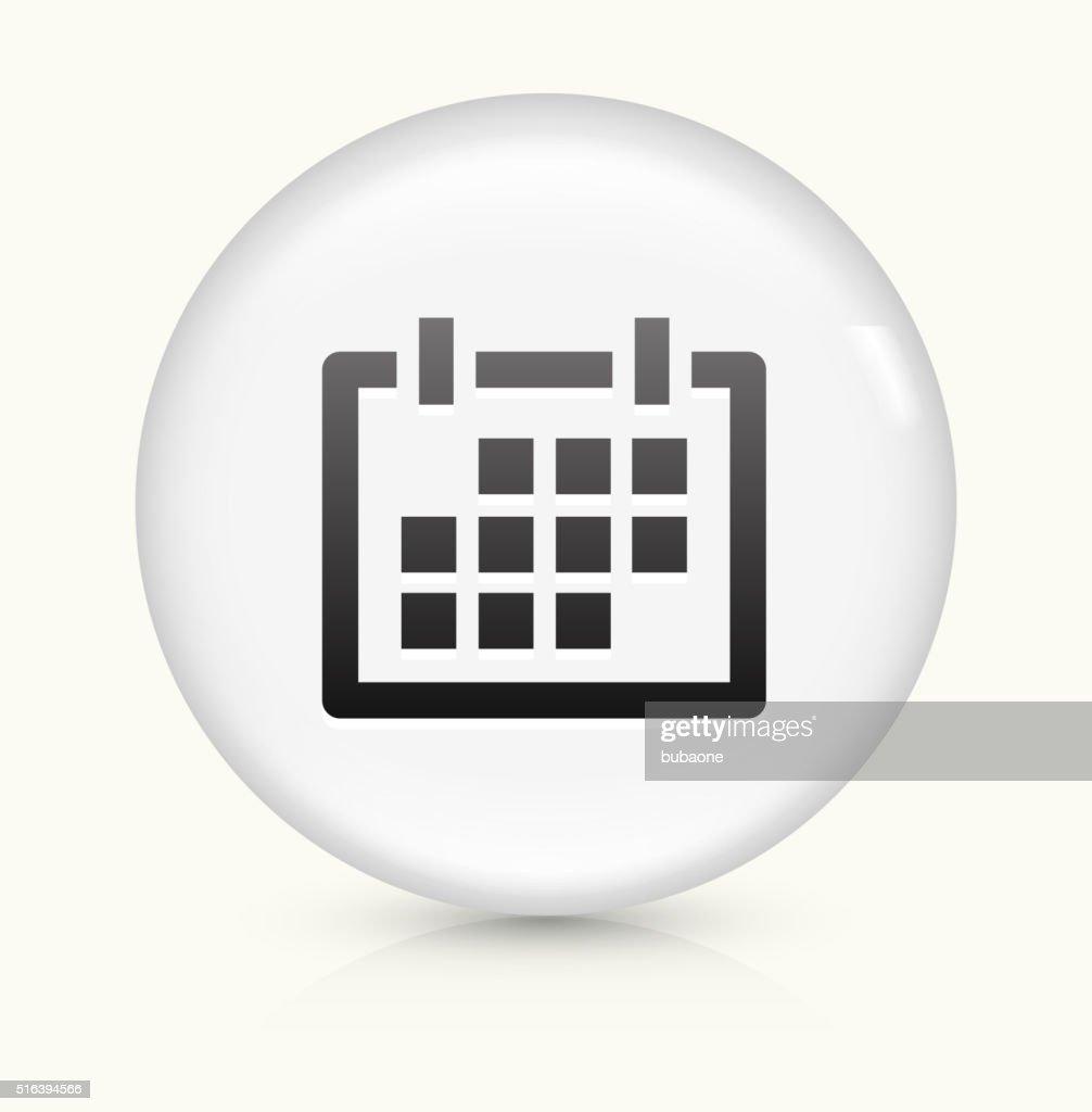 Calendario Vector Blanco.Calendario Icono Sobre Blanco Vector De Redondo Boton