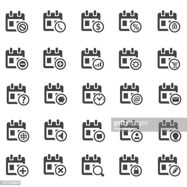 calendar icon set - video editing stock illustrations, clip art, cartoons, & icons