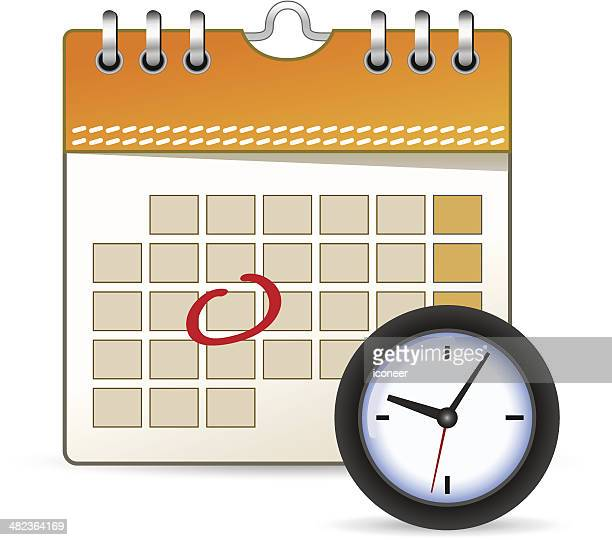 Calendar icon with clock