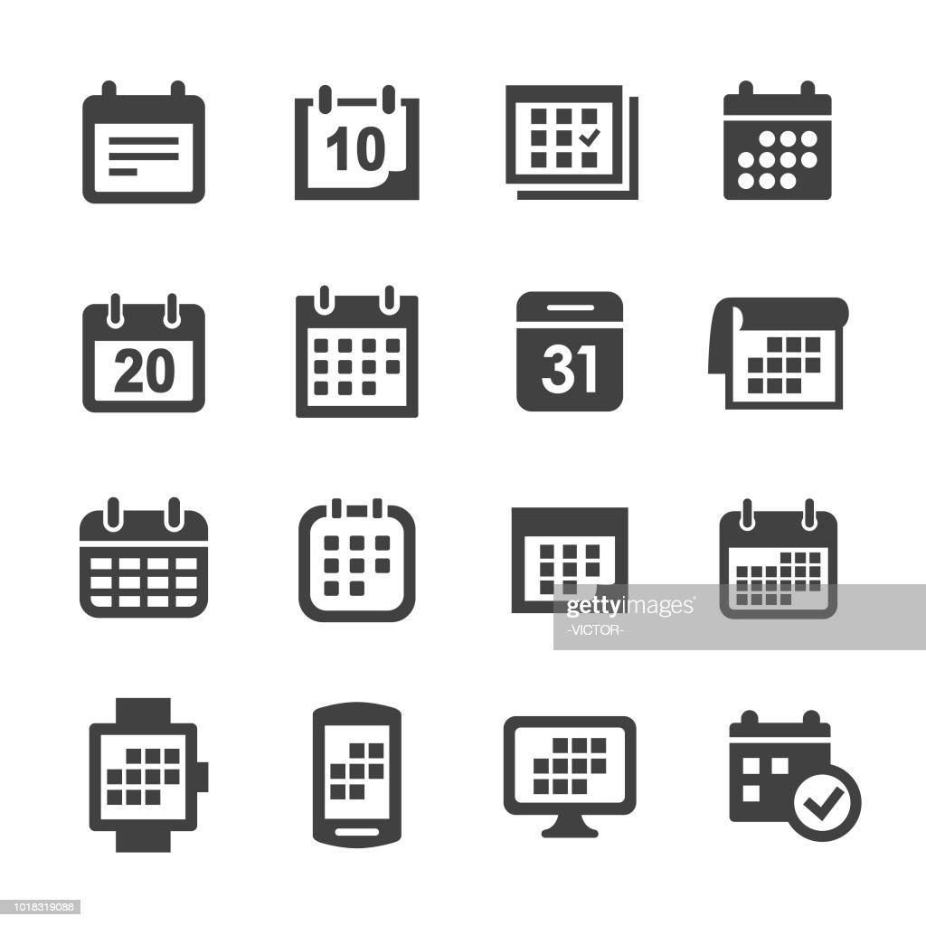 Calendar Icons - Acme Series : stock illustration