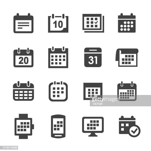 calendar icons - acme series - medical exam stock illustrations