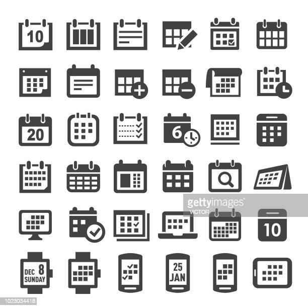 calendar icons - big series - organização stock illustrations