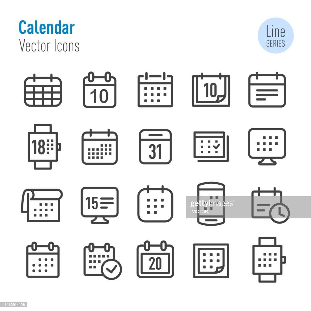 Calendar Icons - Vector Line Series : stock illustration