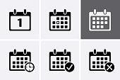 Calendar Icons Vector.