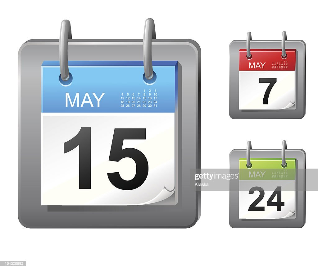 Calendar icons with multiple dates in May