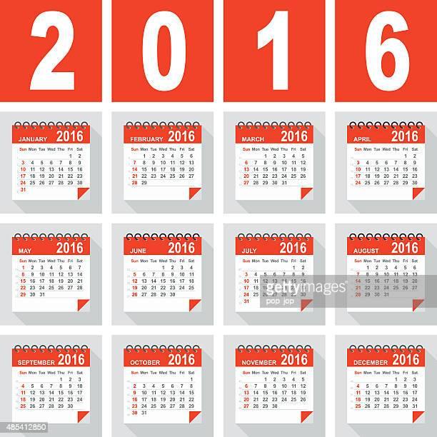 Calendário-ilustração 2016