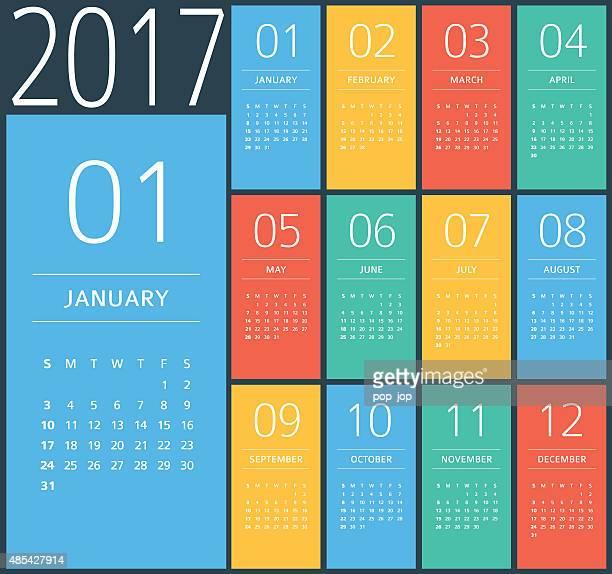 2017-Kalender – Darstellung