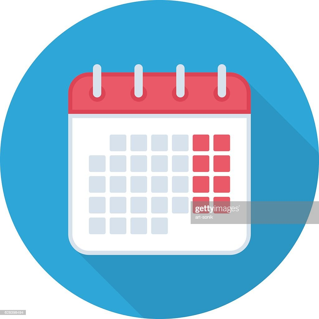 Calendar isolated icon.