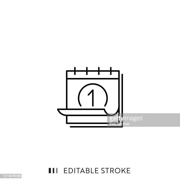 calendar line icon with editable stroke and pixel perfect. - calendar stock illustrations