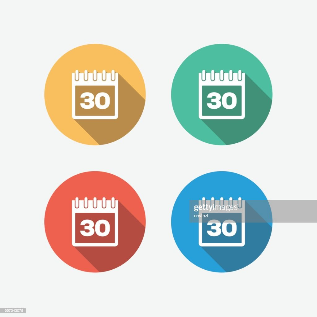 Calendar Multi Colored Flat Icon