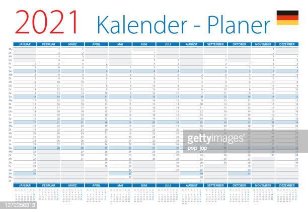illustrations, cliparts, dessins animés et icônes de calendrier 2021 planificateur allemagne. illustration vectorielle. version allemande - mois de mai