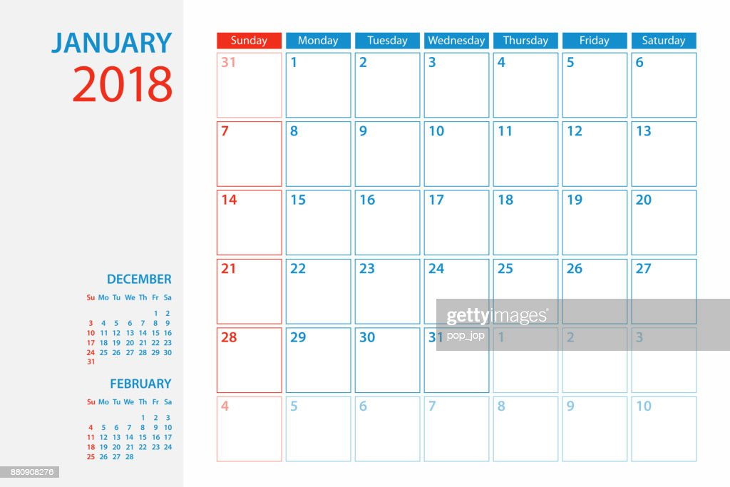 Monthly Planner Template 2018 from media.gettyimages.com