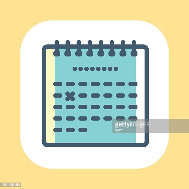 ilustrações de stock, clip art, desenhos animados e ícones de símbolo de calendário - cicatriz