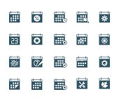 Calendar vector icon set