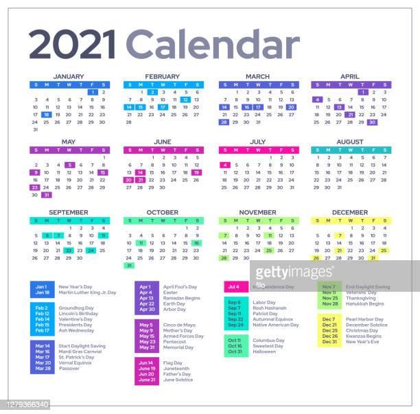 2021 calendar - february stock illustrations