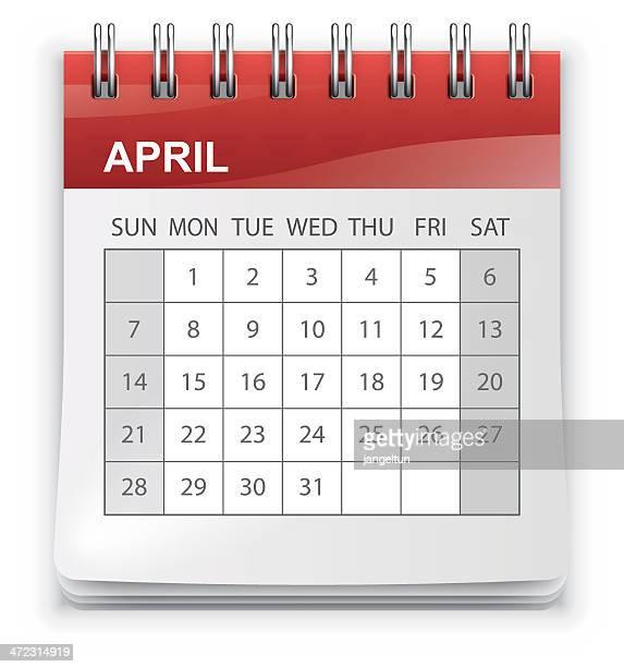 calendar (sunday-saturday) - thursday stock illustrations