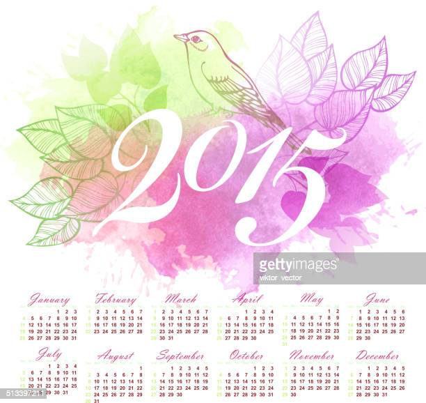 2015 calendar. vector illustration - 2015 stock illustrations