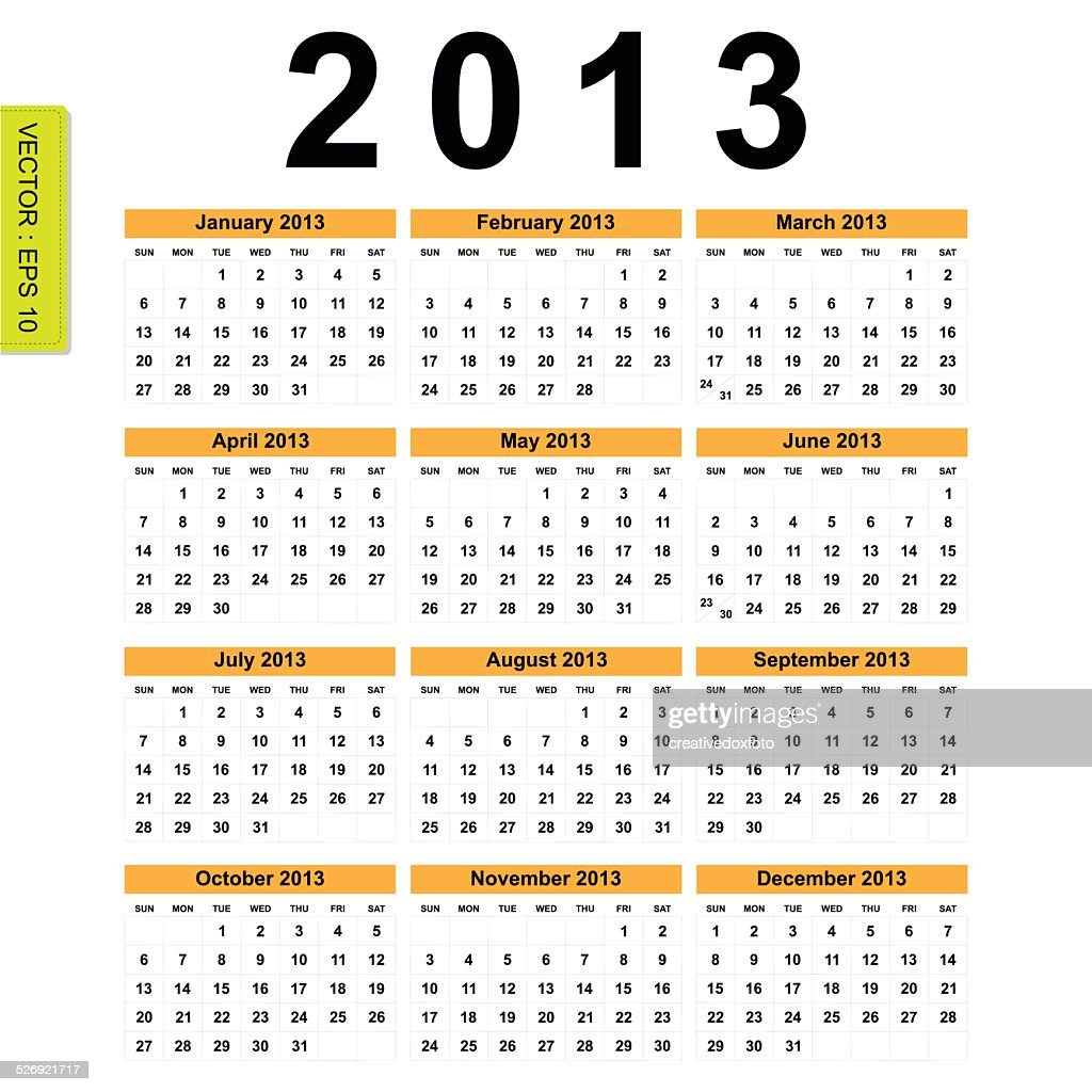 2013 Calendar vector