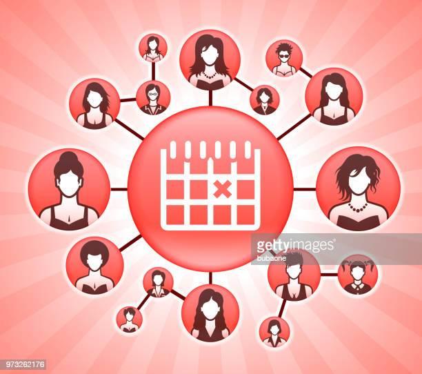 Kalender der Frauenrechte Rosa Vector Hintergrund